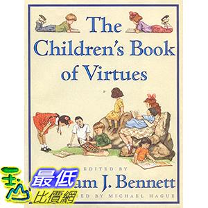 [106美國直購] 2017美國暢銷兒童書 The Children s Book of Virtues Hardcover