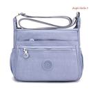側背包。超輕量防潑水多拉鍊小方包斜背包(10色) (SBA0365) AngelNaNa