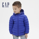 Gap男幼童 活力亮色連帽羽絨外套 593087-藍色