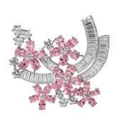 胸針 純銀鍍白金水晶-鑲鑽精緻生日情人節禮物女胸章2色73cw6[時尚巴黎]