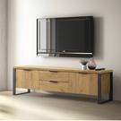 兩色可選 工業風兩門兩抽電視櫃-經典胡桃/DIY自行組合產品