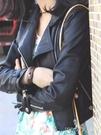 皮衣女短款時尚韓版修身皮夾克仿綿羊皮高腰超短款小外套YYJ 卡卡西
