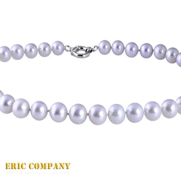 【EM eileen me】日本寶石鑑定DPS專業認證 約10~11mm~天然銀白珍珠項鍊