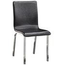 【藝匠】大都會經典黑色駝鳥紋餐椅/休閒椅 實木 原木 學生椅 櫥房 嫁妝 辦公椅 電腦椅