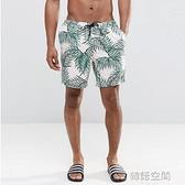 男士海邊度假夏季沙灘褲大褲衩速干內襯溫泉游泳四分寬松短褲潮