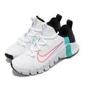 Nike 訓練鞋 Wmns Free Metcon 3 白 藍 女鞋 襪套 健身專用 多功能 運動鞋【ACS】 CJ6314-120
