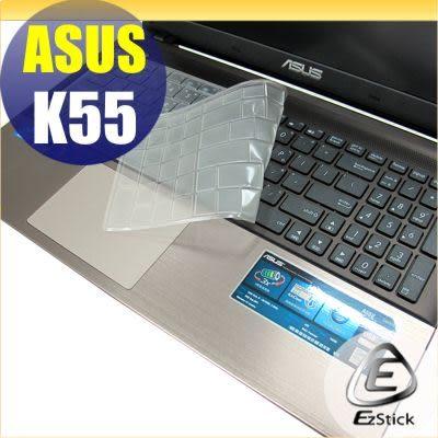 【EZstick】ASUS K55 K55VD 系列 專用奈米銀抗菌TPU鍵盤保護膜