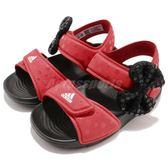 adidas 涼鞋 DY M M AltaSwim I 紅 黑 米老鼠 魔鬼氈 拖鞋 童鞋 小童鞋【PUMP306】 CQ0108