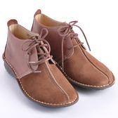 歐威爾:女款拼接麂皮高筒休閒鞋(咖色)