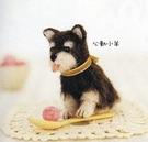心動小羊^^仿真約克夏美麗諾羊毛羊毛氈材料包、可製作成手機吊飾(純羊毛製品)