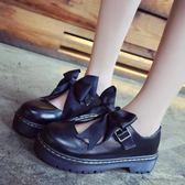 lolita小皮鞋夏軟妹女鞋厚底日系瑪麗珍女單鞋可愛圓頭學生娃娃鞋 【PINKQ】