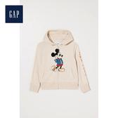 Gap女童迪士尼系列休閒套頭連帽衫休閒上衣499164-淡米黃色