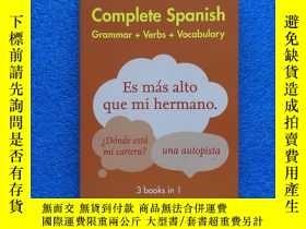 二手書博民逛書店Easy罕見Learning Spanish Complete Grammar, Verbs And Vocabu