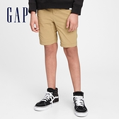 Gap男童 工裝風鬆緊直筒短褲 682045-卡其色