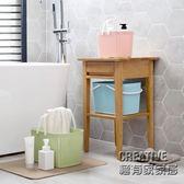 極有家  手提塑料收納筐浴室洗澡籃 廚房鏤空玩具零食收納籃收納框