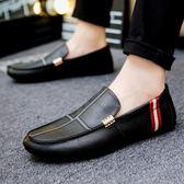 豆豆鞋男真皮男鞋男士休閒皮鞋男懶人鞋一腳蹬韓版套腳鞋子男 巴黎時尚