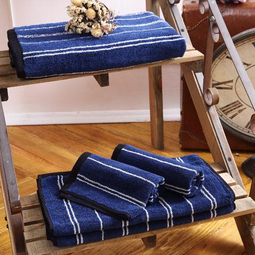 MORINO摩力諾美國棉前漂色紗條紋浴巾