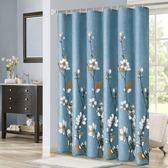 高檔加厚防霉浴簾套裝衛生間隔斷簾