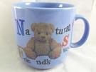 【震撼精品百貨】日本泰迪熊~藍色大馬克杯『英文』