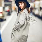 麂皮外套-歐美風格流蘇設計女夾克73hu8【時尚巴黎】