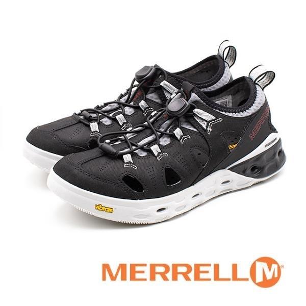【南紡購物中心】MERRELL TIDERISER SIEVE透氣戶外水陸鞋 男鞋 - 黑(另有橄欖棕)