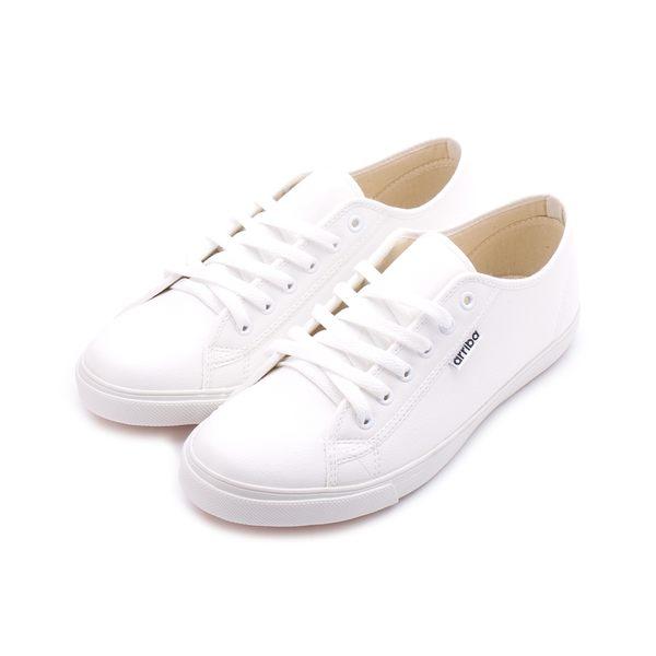 ARRIBA 素面多孔休閒鞋 白 AB-8082 男鞋 鞋全家福