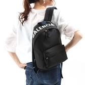 ■專櫃71折■Balenciaga  全新真品 565798 科技纖維LOGO 小款後背包