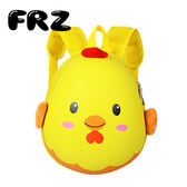 幼兒園寶寶卡通可愛背包3-5-6歲兒童小雞書包男生女生動物雙肩包