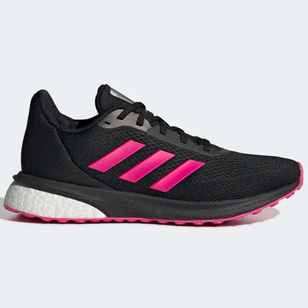 ADIDAS ASTRARUN 女鞋 慢跑 休閒 透氣 網布 緩震 耐磨 黑 紅【運動世界】EG5833