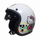 【東門城】華泰 K806S KT020(雙鏡) hello kitty 白 復古帽