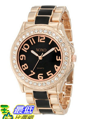 [美國直購 USAShop] 手錶 XOXO Women s XO5473 Rose Gold Tone and Black Epoxy Bracelet Watch $1072