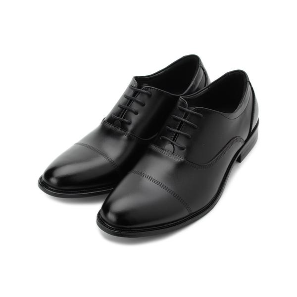 BONJO 真皮橫飾牛津紳士皮鞋 黑 男鞋 鞋全家福