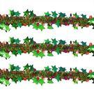 聖誕 裝飾 佈置 190公分金蔥彩帶-雙...