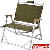 Coleman CM-33562綠橄欖 輕薄折疊椅 戶外休閒椅/導演椅/靠背折合椅/野餐露營椅/低腳椅