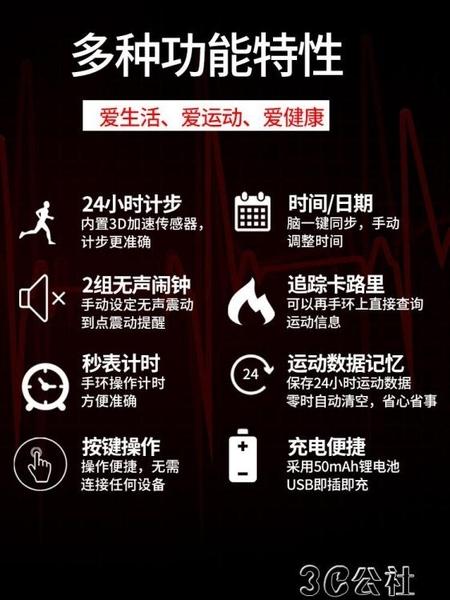 防水電子錶 手錶女學生韓版簡約腕錶新款夜光防水智慧手環電子錶網紅款潮 3C公社