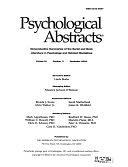 二手書博民逛書店 《Psychological Abstracts》 R2Y ISBN:9781557987914