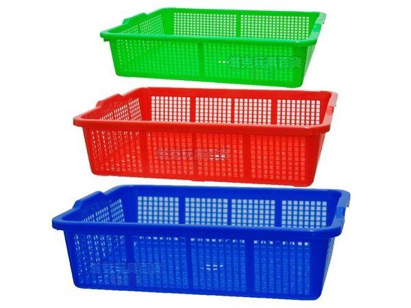 380公文籃 洗菜籃 塑膠籃 公文林 平籃深皿 塑膠盆 方盆 密盆 深盆 密林 MIT【塔克】
