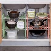 下水槽置物架 伸縮落地收納架廚房用品廚具收納架子鍋架碗架WY 快速出貨