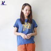 【早秋新品】American Bluedeer - 潮風文字T恤(魅力價) 秋冬新款
