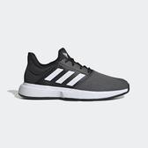 Adidas Gamecourt M [EG2009] 男鞋 網球 慢跑 運動 路跑 健身 休閒 網布 透氣 舒適 黑白