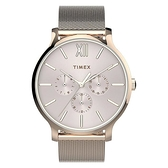 37mm【分期0利率】TIMEX 天美時 三眼 玫瑰金 全新原廠公司貨 TXTW2T74500
