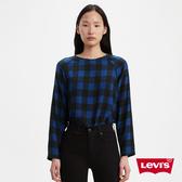 Levis 女款 無肩線長袖上衣 / 寬鬆休閒版型 / 後拉鍊