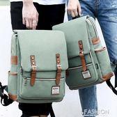 雙肩包女韓版學院風背包大學生書包男15.6寸14寸休閒旅行包電腦包-Ifashion