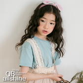 女童上衣 基本款素色圓領短袖T恤 韓國外貿中大童 QB allshine