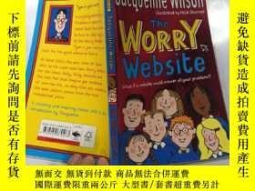 二手書博民逛書店the罕見worry webite 擔憂網站Y200392