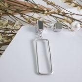 IN' SHOP個性金屬方框+氣質小珍珠三件套耳環-2色【KT31060】