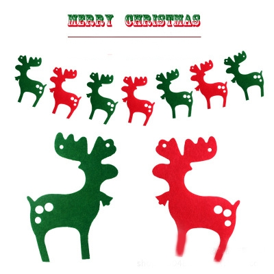 DIY 小鹿串旗 聖誕節佈置 聖誕節吊飾