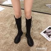 長靴/高筒靴-長靴女過膝靴新款秋季靴子ins百搭粗跟長筒秋款高筒騎士靴潮 多麗絲