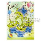 〔小禮堂〕迪士尼三眼怪日製透明硬墊板《B5 綠夾娃娃》學童文具桌墊4946346 80049
