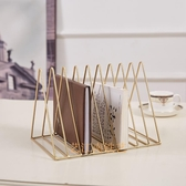 北歐桌面簡易鐵藝書架辦公室桌上書擋